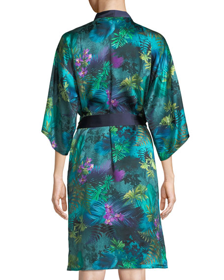 Foret Lumiere Silk Robe