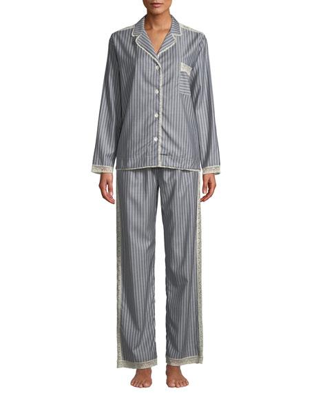 0f5d80092c Morpho + Luna Ines Striped Wool Classic Pajama Set In Multi Pattern ...