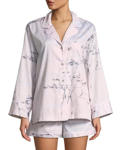 Hakone Long-Sleeve Shorty Pajama Set