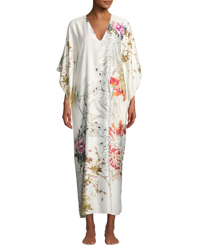 Nikko Floral-Print Caftan