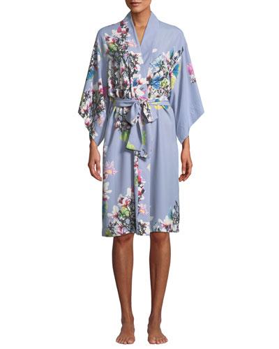 Garbo Floral-Print Robe