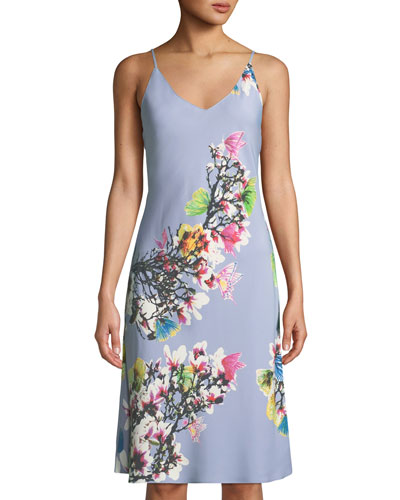 Garbo V-Neck Floral-Print Nightgown