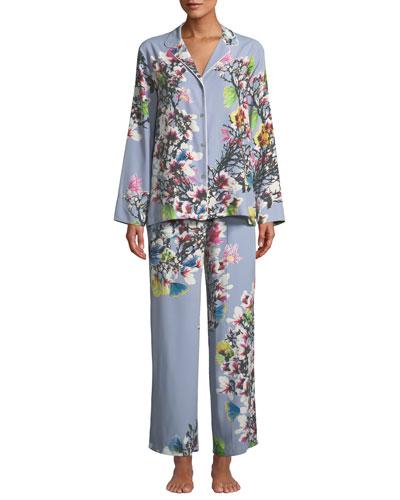Nikko Floral-Print Classic Pajama Set
