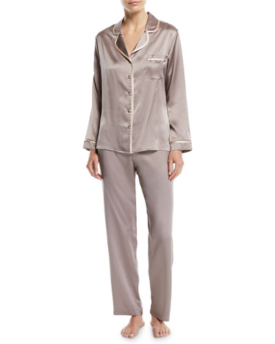Garbo Long Silk Pajama Set