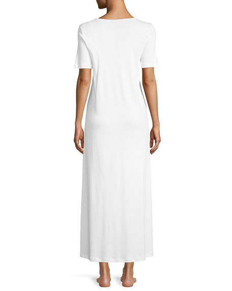Jana Short-Sleeve Long Nightgown