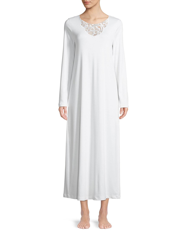 163ce2785e Hanro Ella Long-Sleeve Nightgown