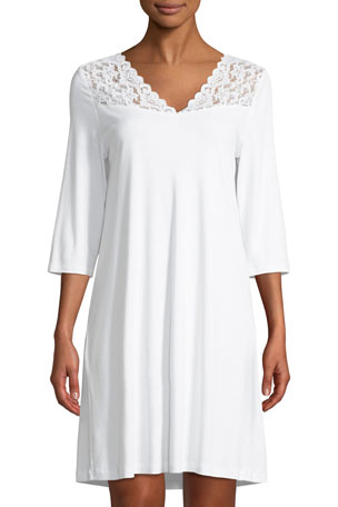 Hanro Moments 3/4 Sleeve Nightgown