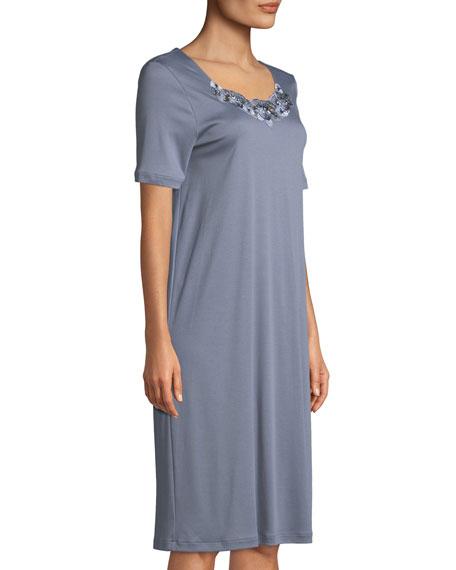 Jana Lace-Trim Short Nightgown