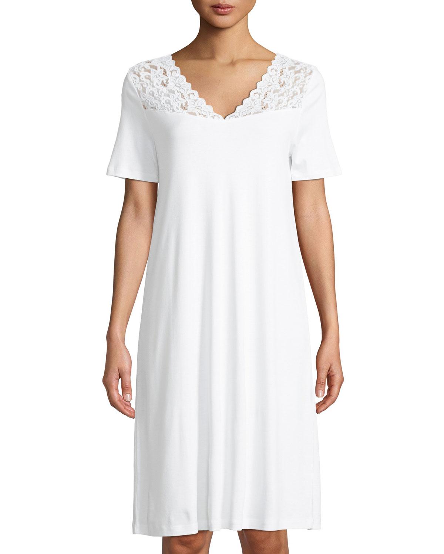 df3bd9c461 Hanro Moments Short Sleeve Nightgown