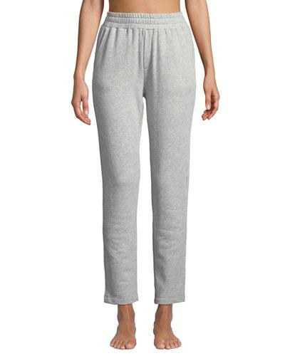 Terry Cloth High-Waist Sweatpants