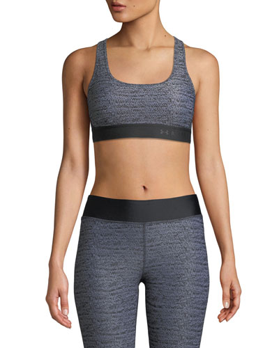 Mid-Impact Scoop-Neck Cross-Back Sports Bra
