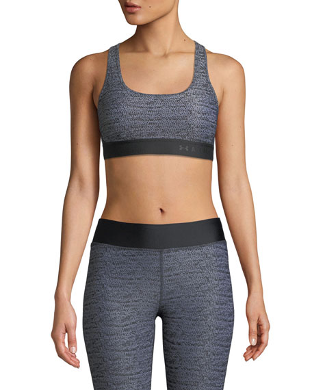 Under Armour Mid-Impact Scoop-Neck Cross-Back Sports Bra