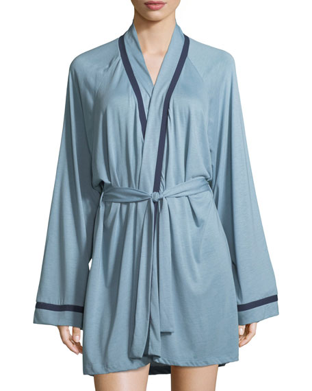 Bella Contrast-Trim Robe