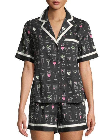 kate spade new york cocktails shorty pajama set