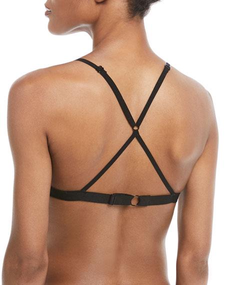 Cotton Tulle Adjustable Triangle Bra
