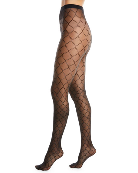 Dot Semisheer Tights