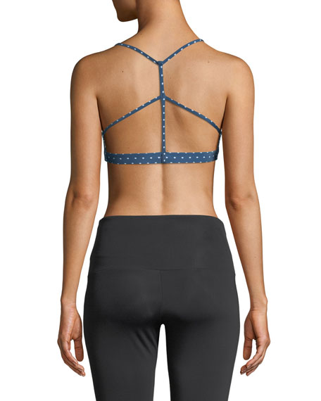 Pyramid Strappy Dotted Low-Impact Sports Bra