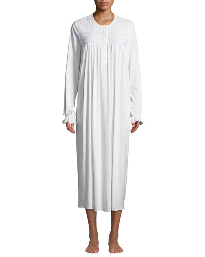 Nadine Long-Sleeve Long Nightgown