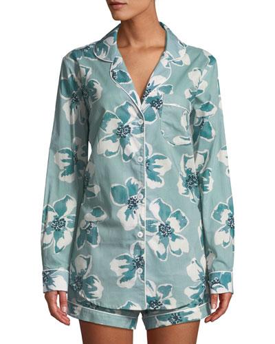 Floral-Print Classic Short Pajama Set