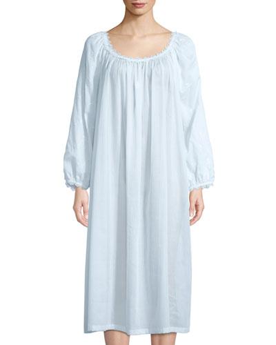 Fleur Scalloped-Trim Nightgown