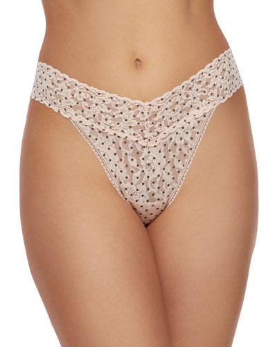 Pixie Dot Original Rise Signature Lace Thong