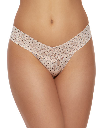 Pixie Dot Low-Rise Lace Thong