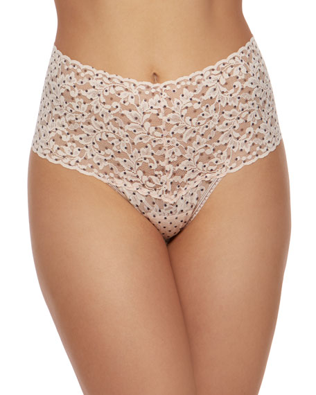 Hanky Panky Pixie Dot Signature Lace Retro Thong