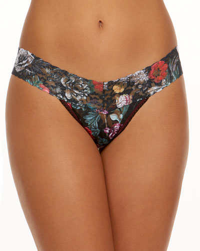 Eden Signature Lace Low-Rise Thong
