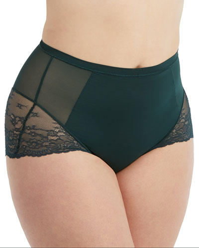 Spotlight on Lace High-Waist Briefs, Plus Size