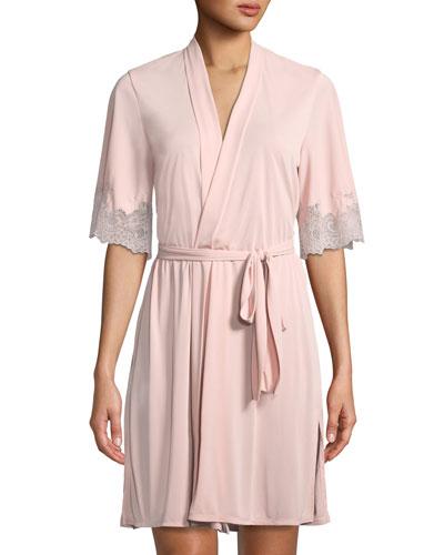 Enchant Lace-Trim Short Robe