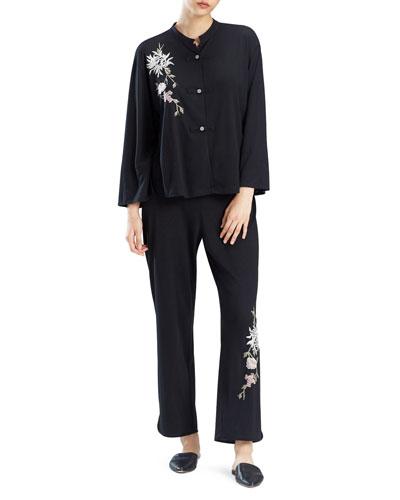 Nikko Embroidered Pajama Set