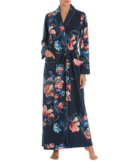 JONQUIL Hampton Court French Terry Robe in Navy Print