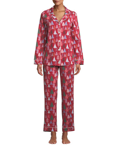 Holiday Christmas Trees Classic Pajama Set