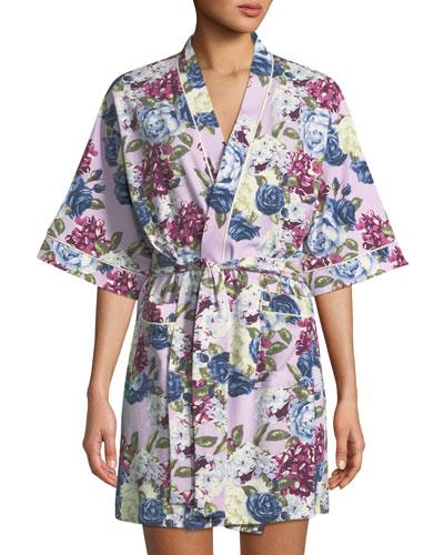 Floral Jewels Short Robe