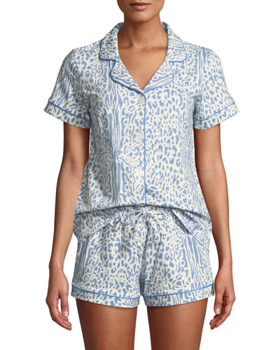 Cheetah Shorty Pajama Set