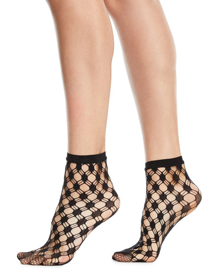 Wolford Athina Geo-Net Ankle Socks