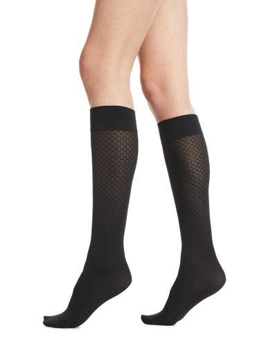 Tess Jacquard Knee-High Socks