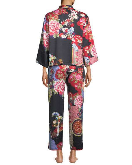 Mikado Mandarin-Collar Pajama Set