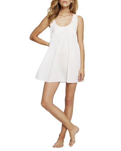 Sleeveless Pintuck Short Nightgown