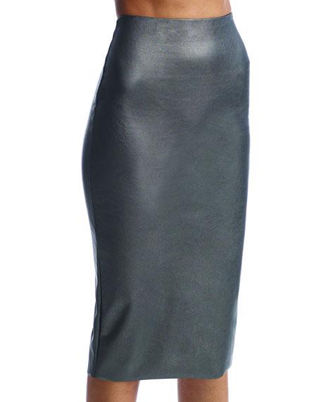 Commando Perfect Faux-Leather Midi Skort Shaper