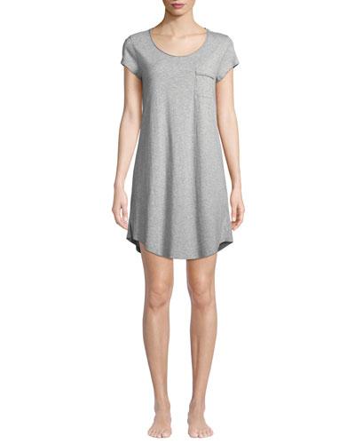 Heathered Jersey Pocket Sleep Shirt