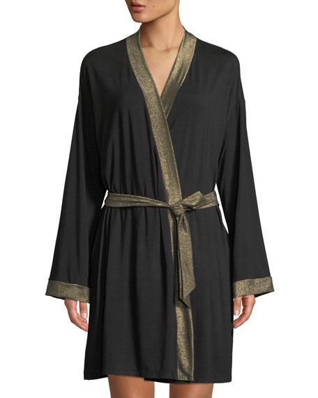 Cosabella Becca Metallic-Trim Robe