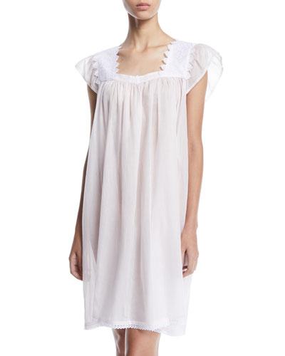 Ninifee Cap-Sleeve Babydoll Nightgown