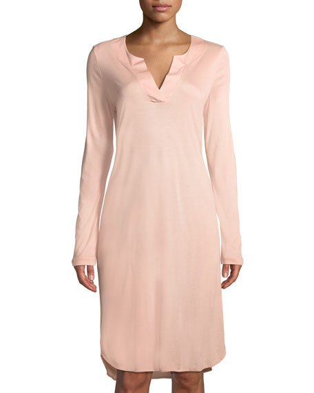 64cd1fc44f Hanro Malie Long-Sleeve Nightgown