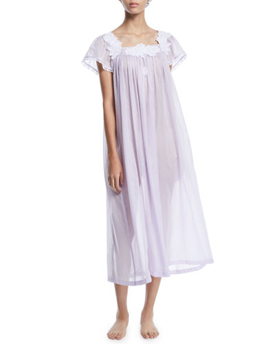 Nirwana Cap-Sleeve Nightgown