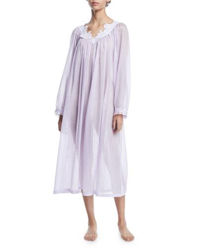 Nirwana Long-Sleeve Cotton Nightgown