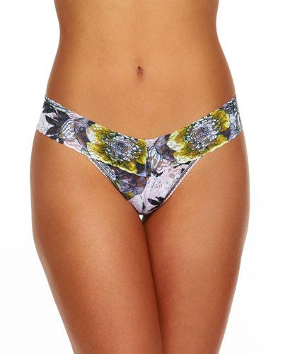 Goldilocks Low-Rise Signature Lace Thong