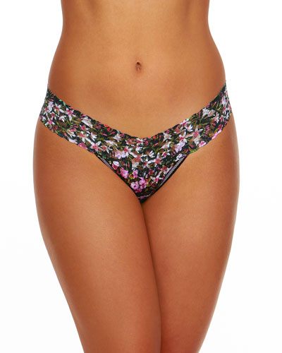 Thumbelina Low-Rise Signature Lace Thong