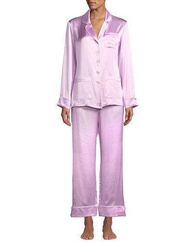 Coco Flamingo Classic Silk  Pajama Set
