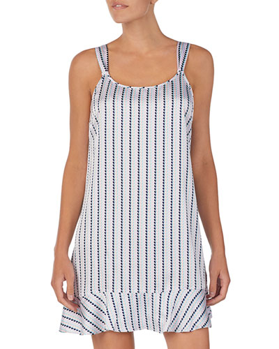 striped heart charmeuse chemise